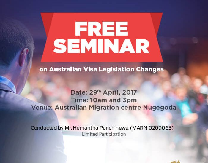 Free Seminar of Australian Visa Legislation Changes